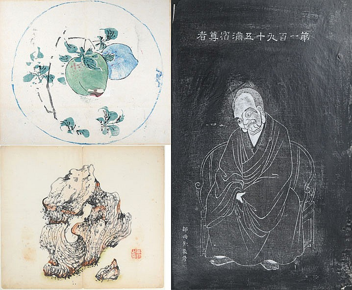 THREE ORIGINAL WOODBLOCK PRINTS FROM THE